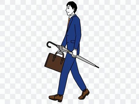 一個人帶著傘走