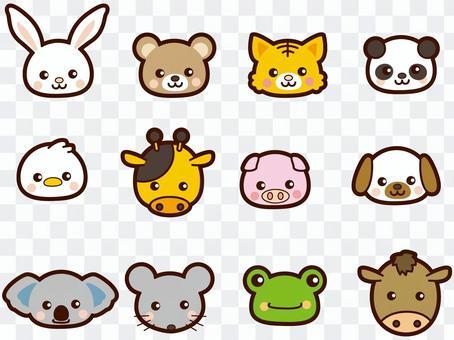 かわいい動物たちの顔
