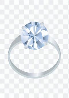 鑽石的鉑金戒指