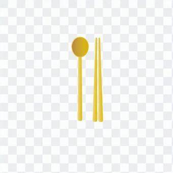 韓國筷子和勺子