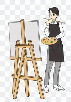 藝術俱樂部裡的男人