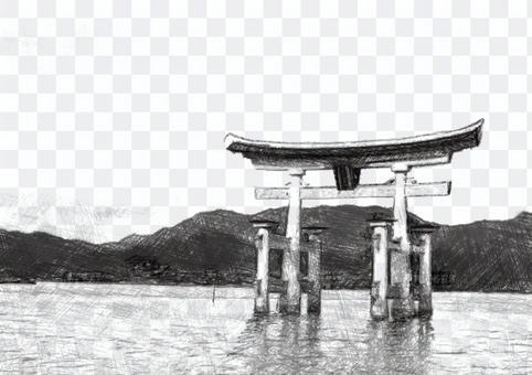 広島の宮島の、厳島神社