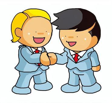 握手·日本和白色