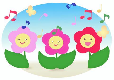 三姐妹的花