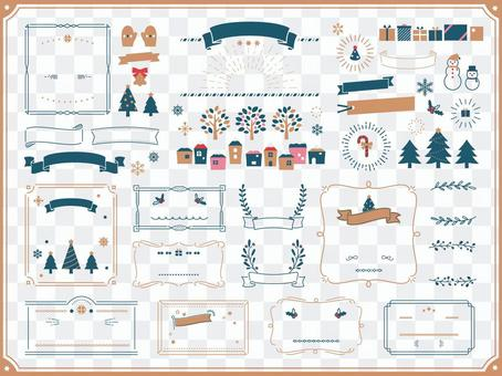 飾り罫 クリスマス フレーム セット2