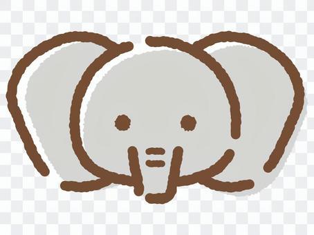 大象face_hand繪製