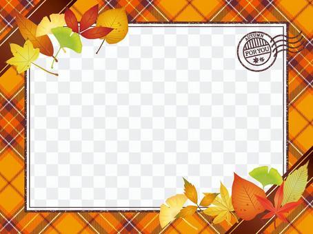 Autumn leaves · Autumn leaves check Letter frame 3