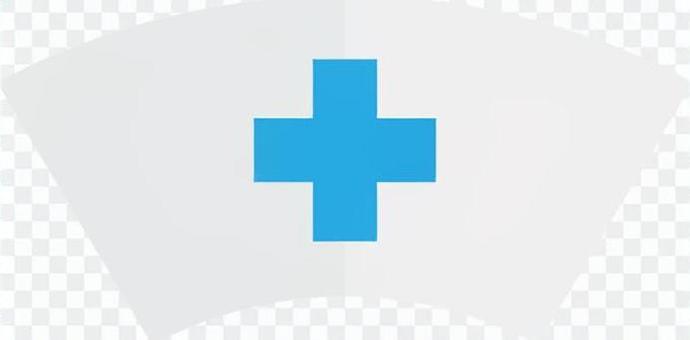 護士帽(藍色)