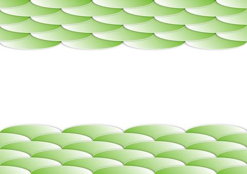 Wavy gradient background green