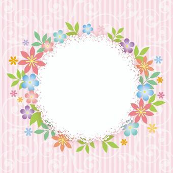 花圈種族_粉紅色_邊框背景1816年