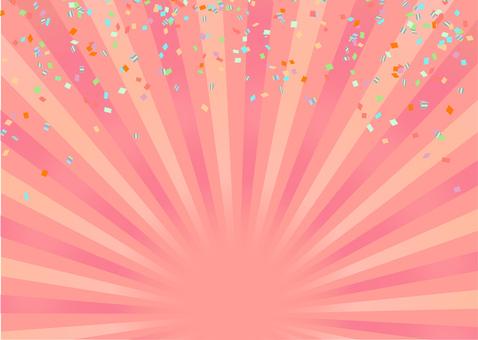 2色集中線背景【粉色】