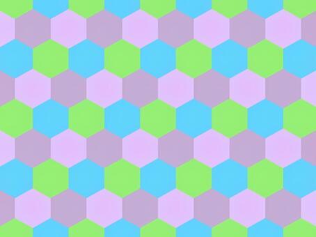 六角形_カラフル_2