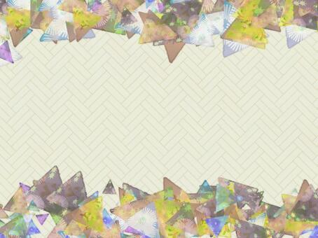 Chiyogami三角傳播卡片