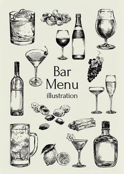 酒吧菜單圖