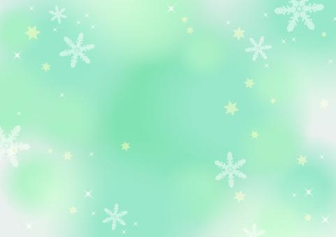 冬天·雪·聖誕節背景(綠色