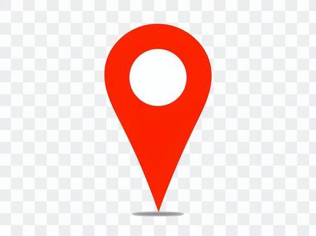 地圖別針地圖暗影是紅色
