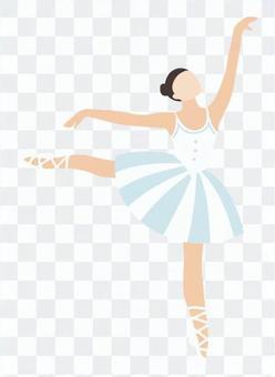 芭蕾舞女演員站在一條腿上