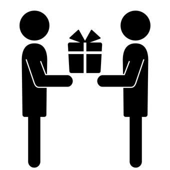 送禮物的象形圖