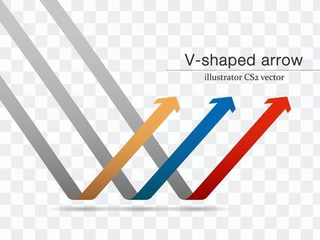 V-shaped arrow