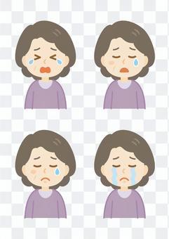 老人woman_crying臉集