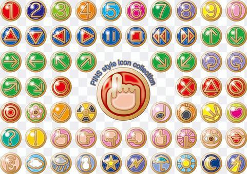 Pins pin badge icon button