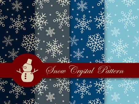 Fashionable snowflake pattern set