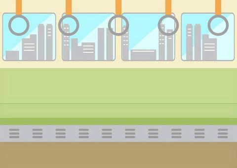 電車内 都市車窓
