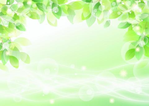 閃光背景水平與新鮮的綠色和自來水