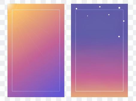 卡在正面和背面配對(早晨和晚上為橙色框)