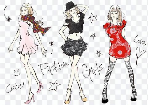 婦女享受時尚2的插圖