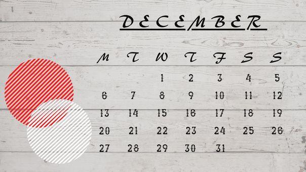 日曆 ① [2021 年 12 月]