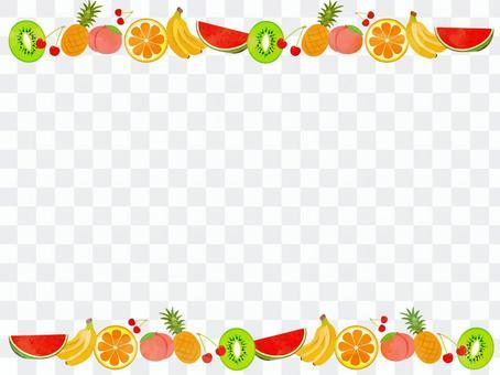フルーツ 枠デザイン
