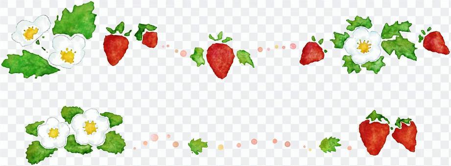 草莓和草莓的輝煌水彩畫行