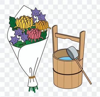 苯花,手罐和梯子
