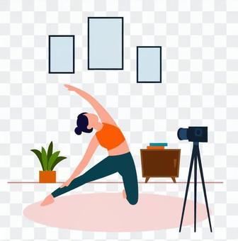 婦女提供瑜伽視頻