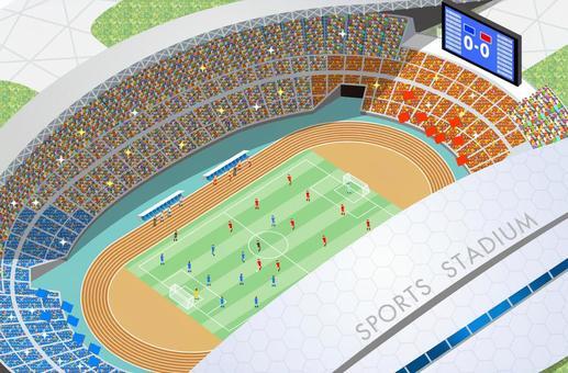 橄欖球場體育場例證