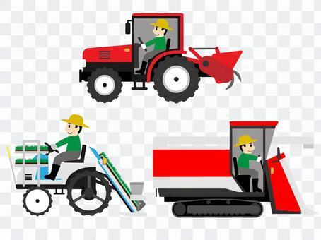 働く車 農業機械 農機具(運転手あり)