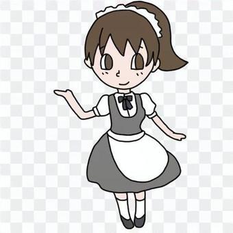 女服務員(小馬尾巴)