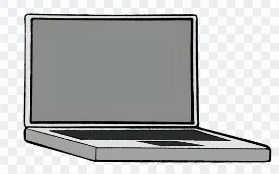 白いノートPC