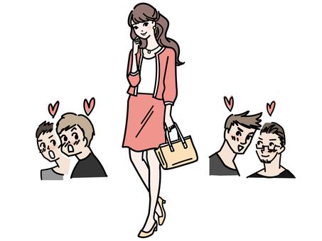 吸引男性注意的人氣女性