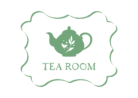 Tea room tea logo mark