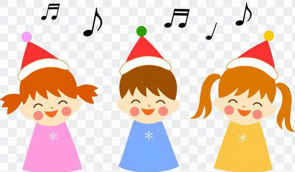 Children singing Christmas songs
