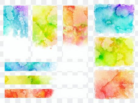 Watercolor background set ver 07