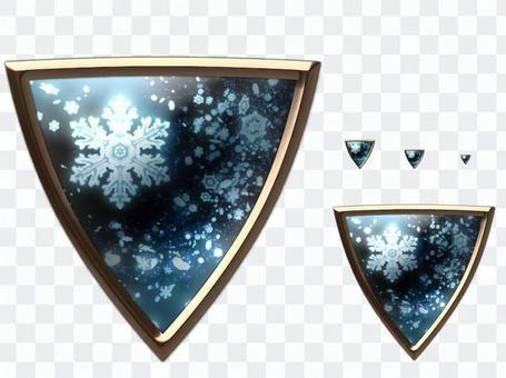 樹脂訪問風按鈕 - 擴展倒三角 - 冬天