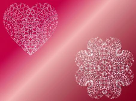 蕾絲材質(白心、花朵圖案)