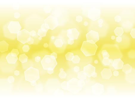 六角形光·黃色