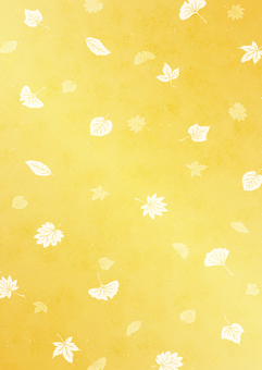 金色背景與秋天的華麗形象