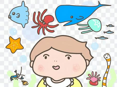 Babies and sea creatures