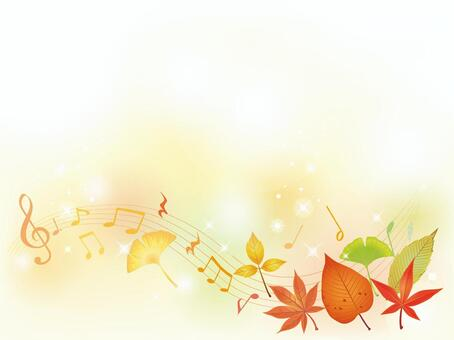 Autumn Leaves · Autumn Leaves Stream Musical Note Frame 02