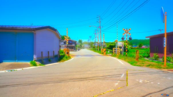 鄉村道路和鐵路道口